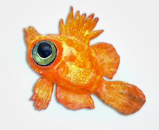 'Boar Fish', Ceramic Wall Sculpture