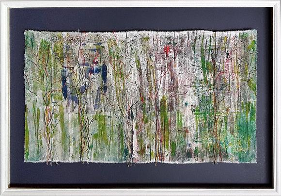 'Frayed Edges', Creative Embroidery on Monoprint