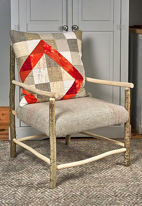 'Monbretia Armchair', Hazel with Wool Textile by Mary Palmer