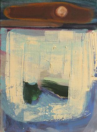 'High Tide by Moonlight, Oil on Linen (framed)