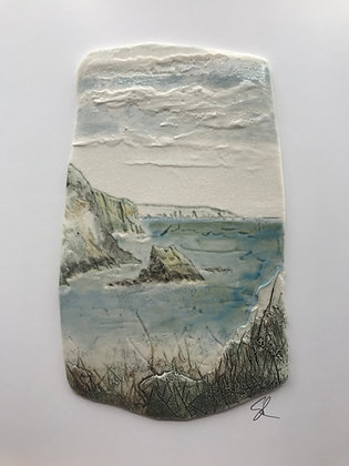 'Winter Day', Porcelain Wall Piece on Board
