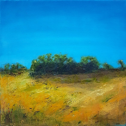 'Gorse', Oil and Wax on Canvas, Framed