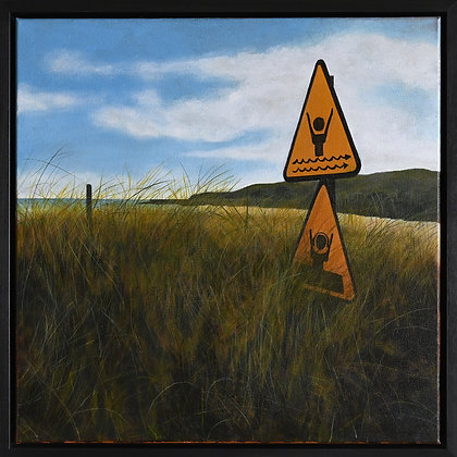 'Lost in Signs - the Warren', Acrylic on Canvas (framed)