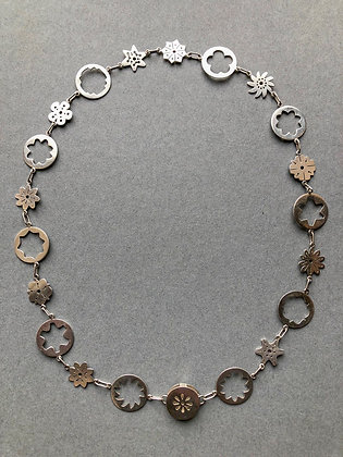 'Flower Power' Necklace, Sterling Silver