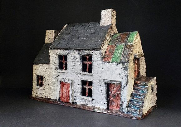 'Mary Twomey's Cottage', Raku-Fired Ceramic
