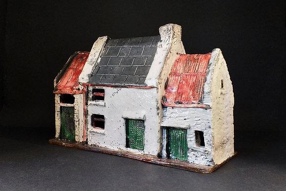 'Danny Sullivan's Cottage', Raku-Fired Ceramic