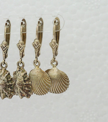 'Cockle Earrings', Sterling Silver