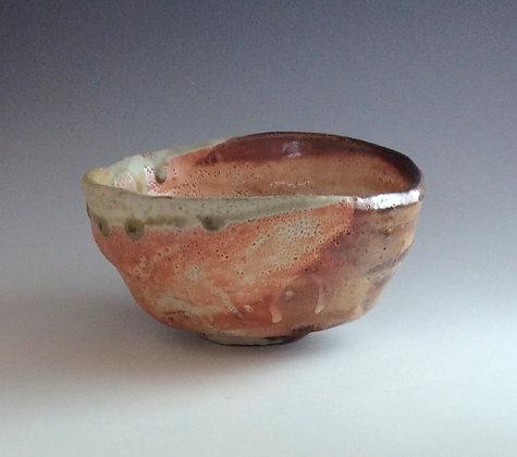 'Tea Bowl with Tan Slip', Salt-Glaze Woodfired Stoneware
