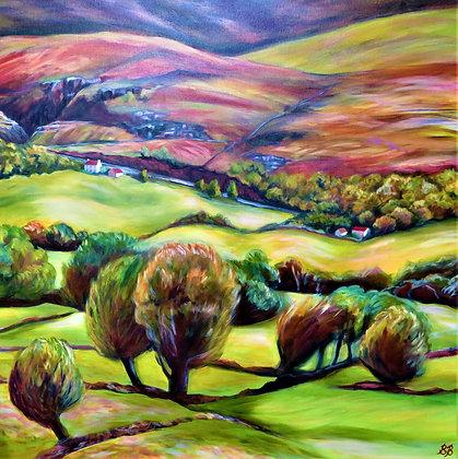 'Bonane Hillside', Oil on Canvas