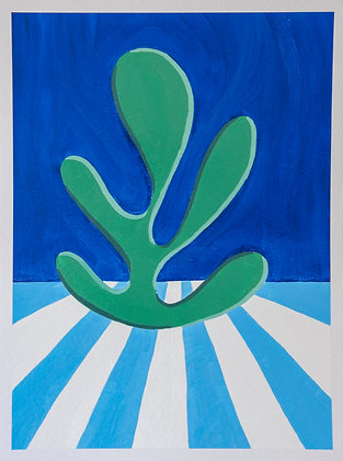 'Seaweed Appreciation VI', Oil on Gesso Primed 450gsm Paper