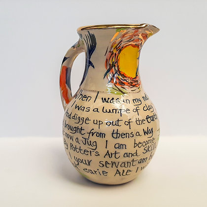 'Traditional Rhyme', Ceramic Jug with Gold Lustre