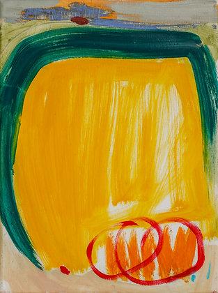 'Stubble Field', Oil on Canvas