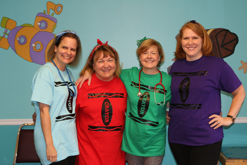Our Pediatricians as Halloween Crayons