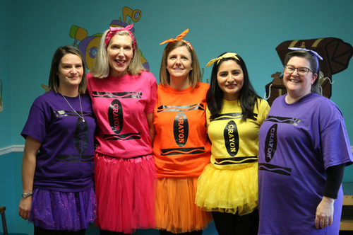 Our Nurses as Halloween Crayons