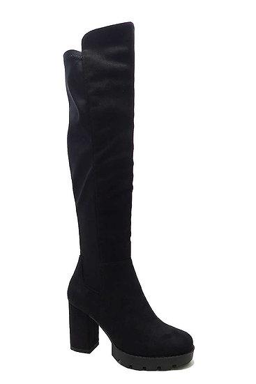 Suede High Heel Above Knee Boots