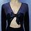 Thumbnail: Velvet Bodysuit With Tied Front