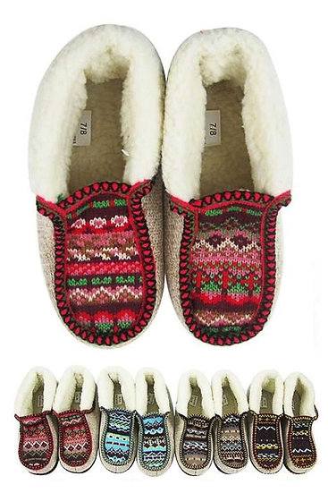 Fuzzy Knitted Slippers