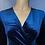Thumbnail: Velvet Long Sleeve Crossed Top