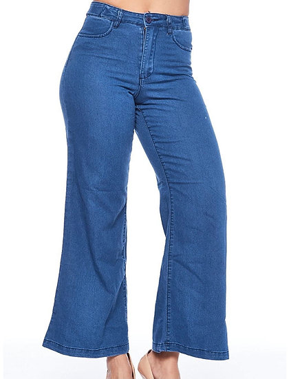 High Waist Bell Bottom Mom Jeans
