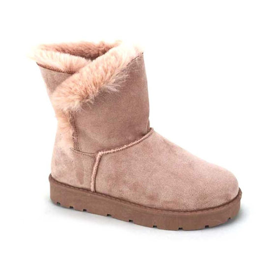 Chic Furry Warm Stitching Ankle Boots