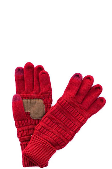 Solid Color Fashion Gloves