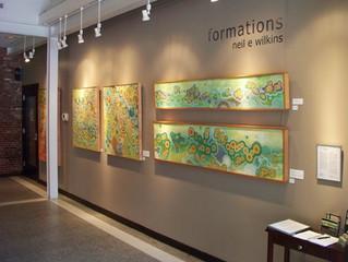 Neil Wilkins Formations Art Exhibit at Firehouse Center Newburyport July 3-28th