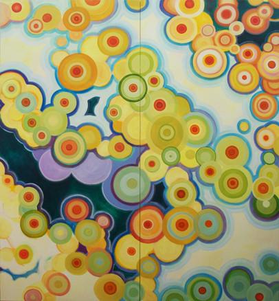 neil wilkins art, variations (diptych)