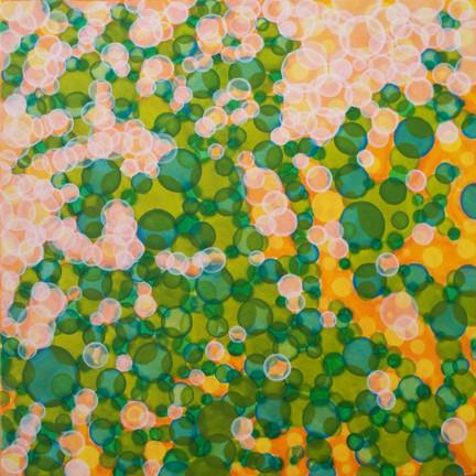 """Neil Wilkins Shadowfields #2, Acrylic on Canvas, 24"""" x 24"""""""