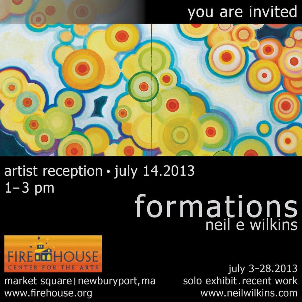 neil wilkins art. Formations. Solo Exhibit.