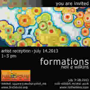 neil wilkins art. Formations. Solo Exhibit.