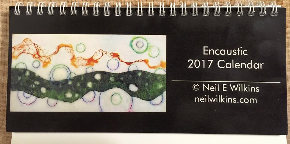 Neil Wilkins 2017 Encaustic Art Calendar