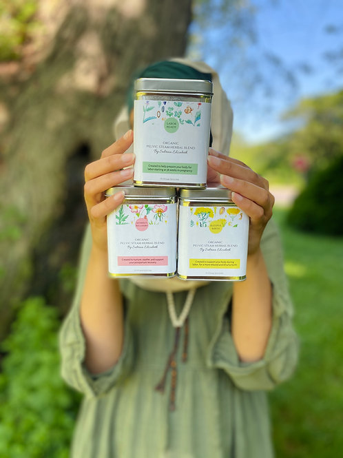 Pregnancy, Labor and Postpartum Combo Organic V-Steam Herbal Blends