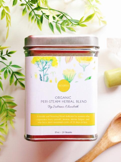 NOURISH: Organic Pelvic Steam Herbal Blend | Heavy Periods, Anemia, Short Cycles
