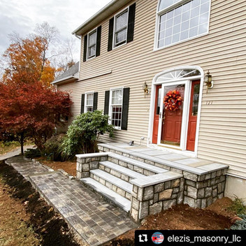 Bluestone Front Porch with Granite City Pavers