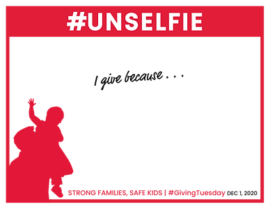 Giving Tuesday 2020_#Unselfie Template.p