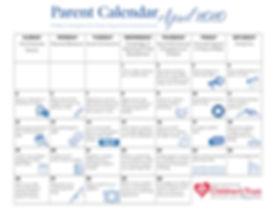 2020 NHCT April Parent Calendar