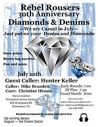 Rebel Rousers 30th Anniversary Diamonds & Denims