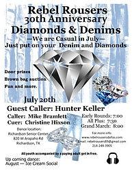 Rebel Rousers 30th Anniversary Diamonds & Denims