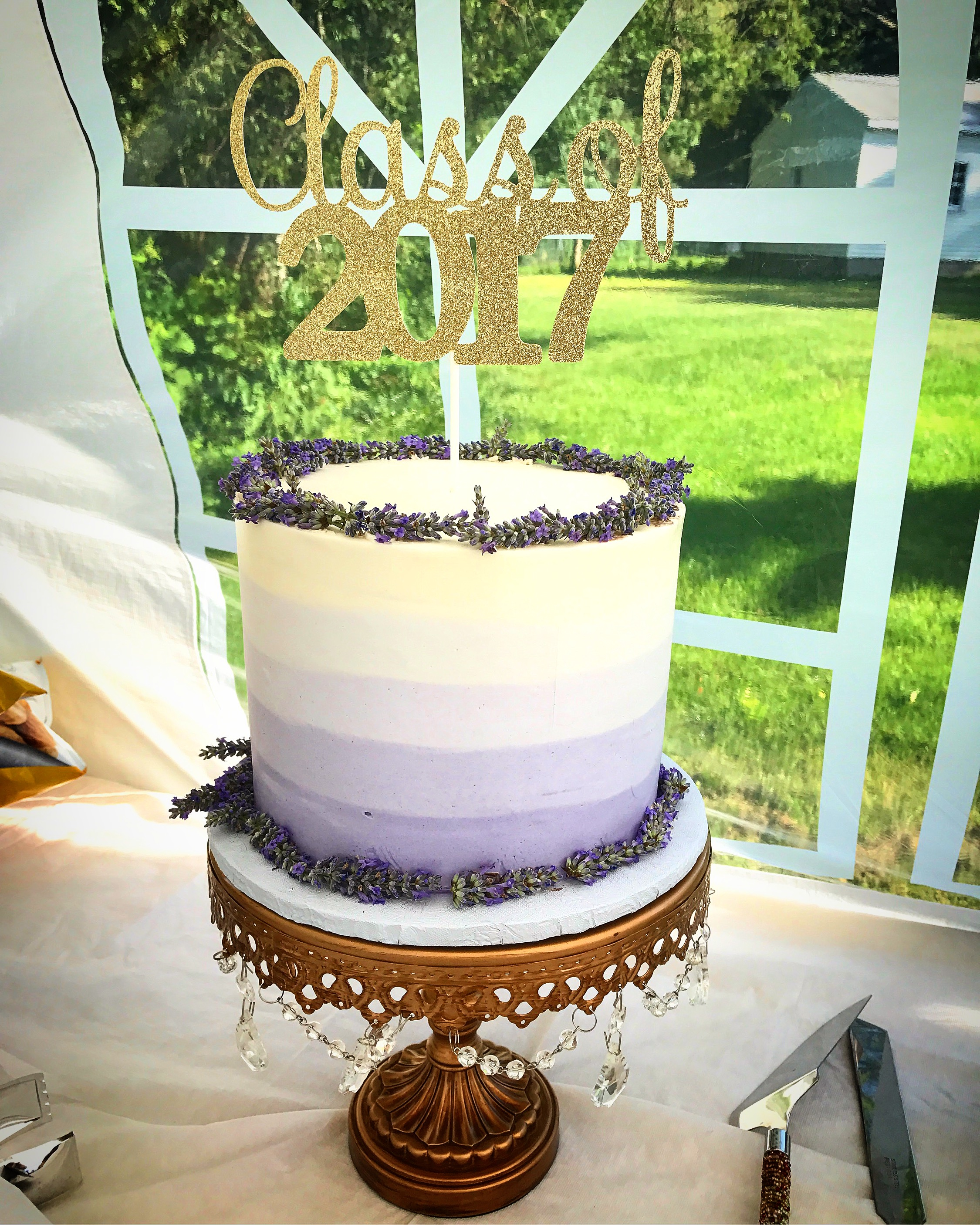 Honey Lavender Ombre Cake