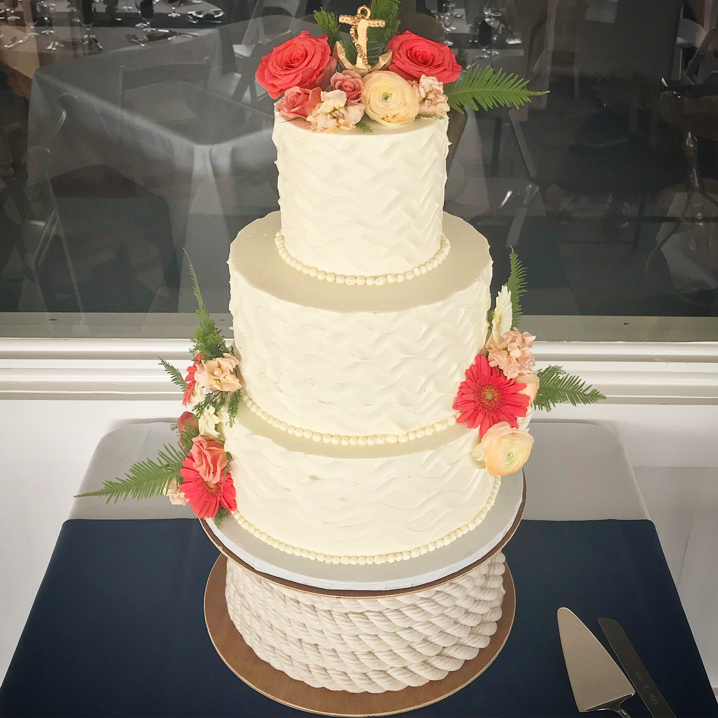 Nautical Cape Wedding Cake