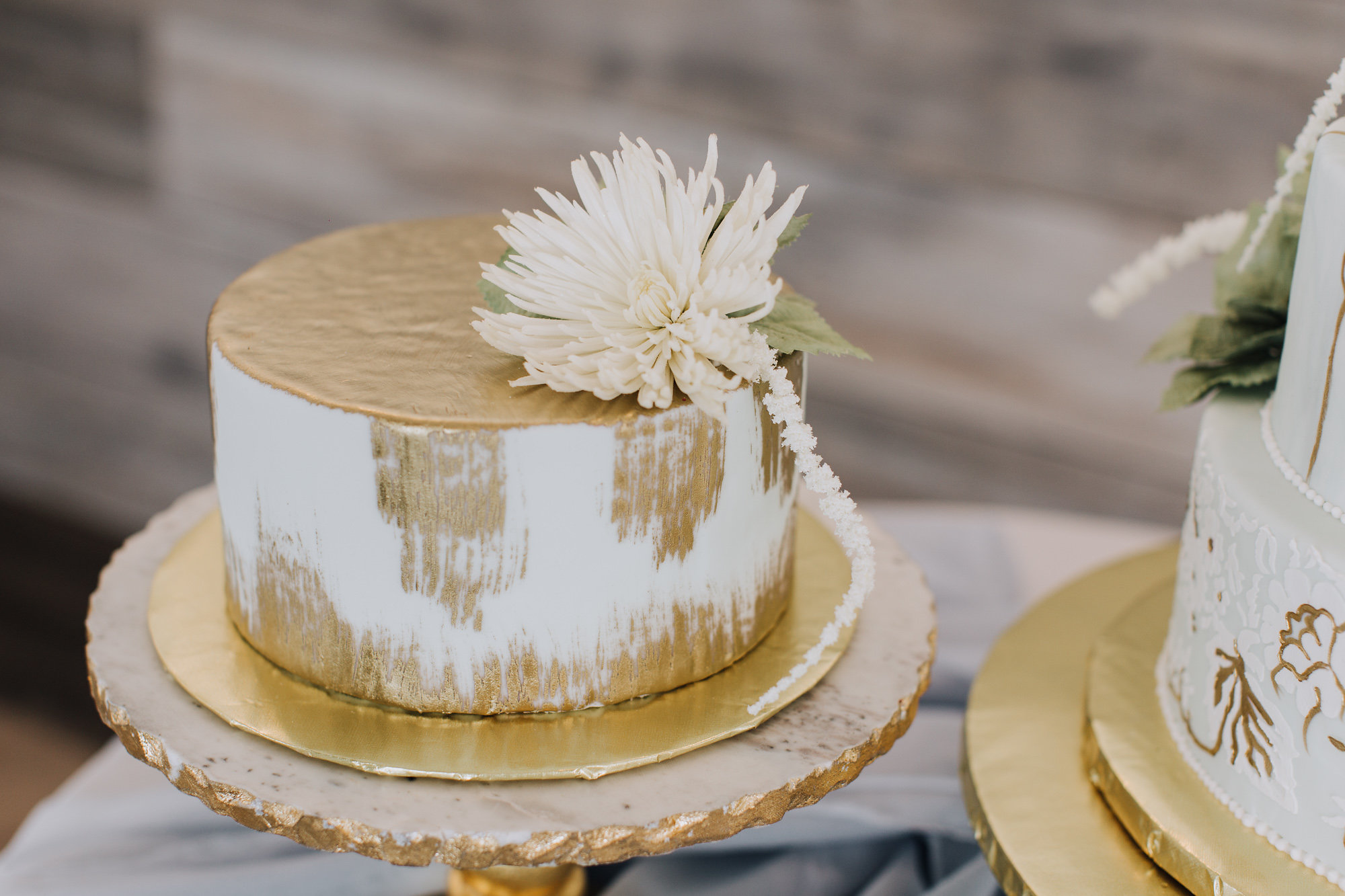 Gold brush Cake