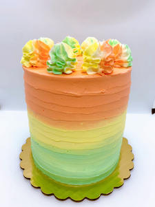 6 Layer Rainbow Sherbet Party Cake