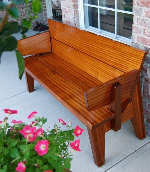 Sapele 10-degree bench