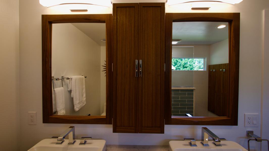 Double Mirror and Medicine Cabinet