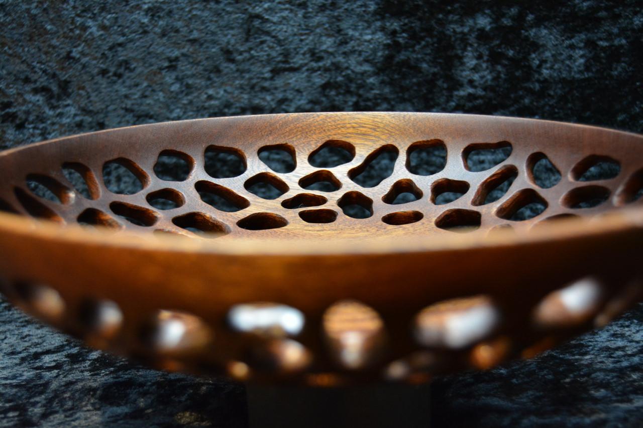 Decorative Turned Bowl in Sapele