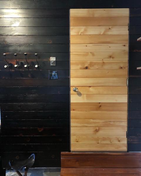 Custom Scandanavian Garage Entryway