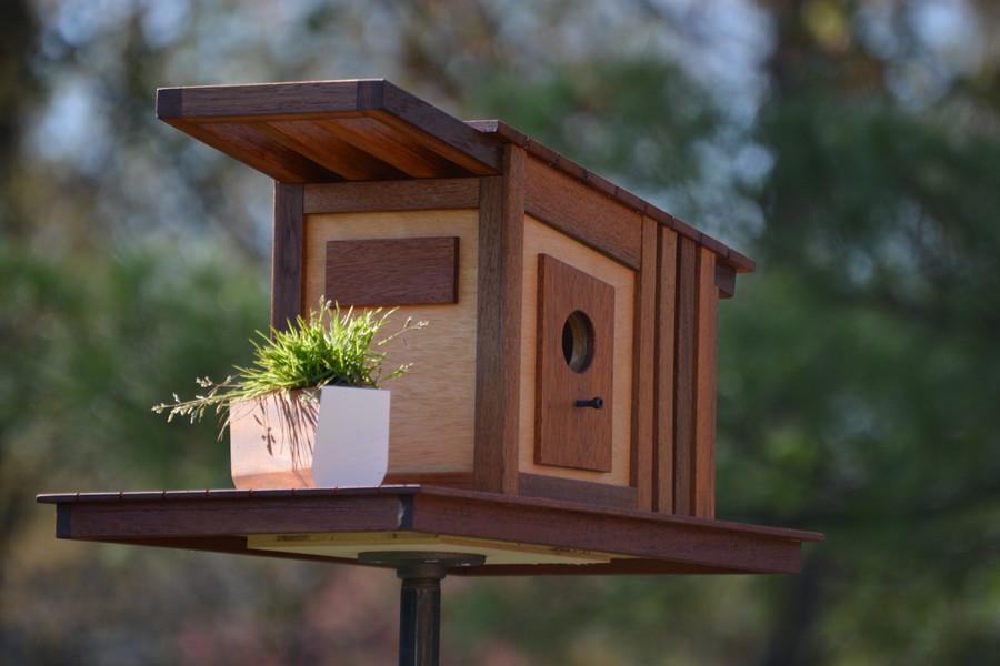 Midcentury Modern Blue Bird House