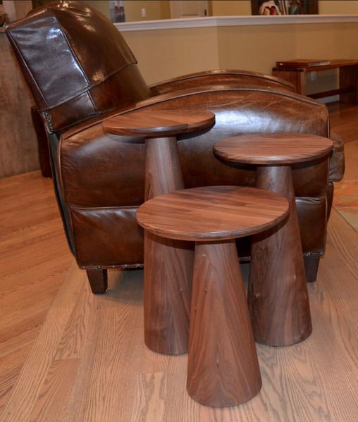 Set of 3 Pedestal Tables