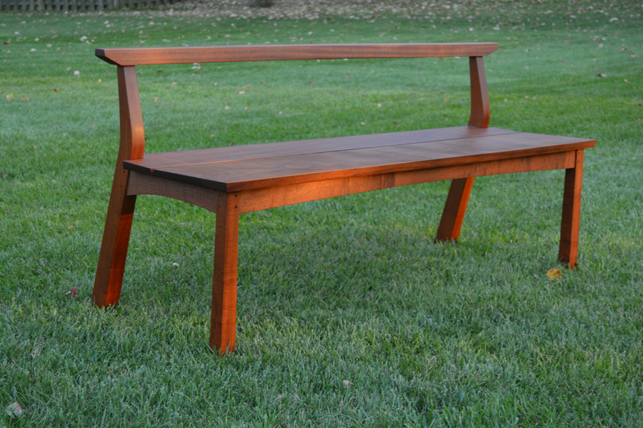 Bench in Sapele