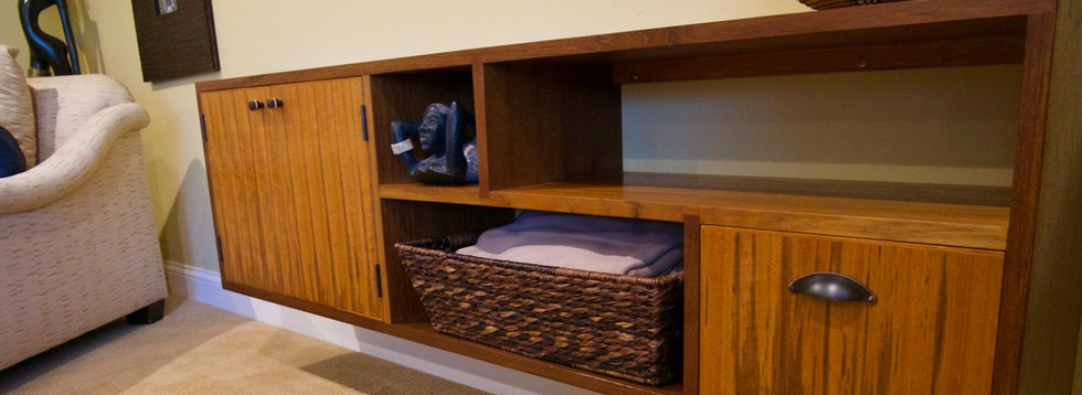 Floating TV Console in Teak